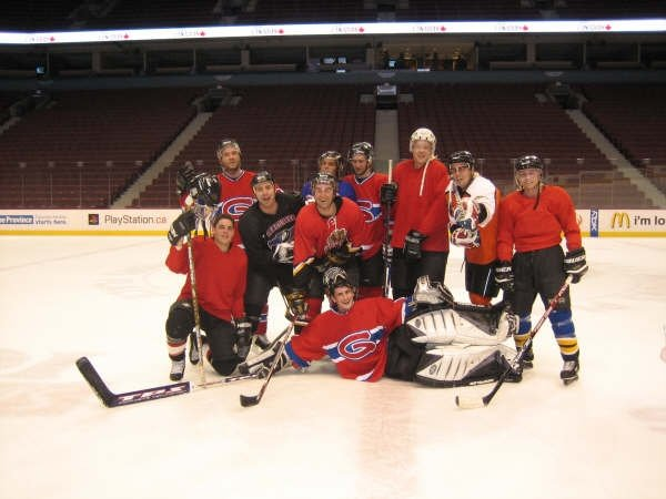 Men's Group hockey at NHL stadium