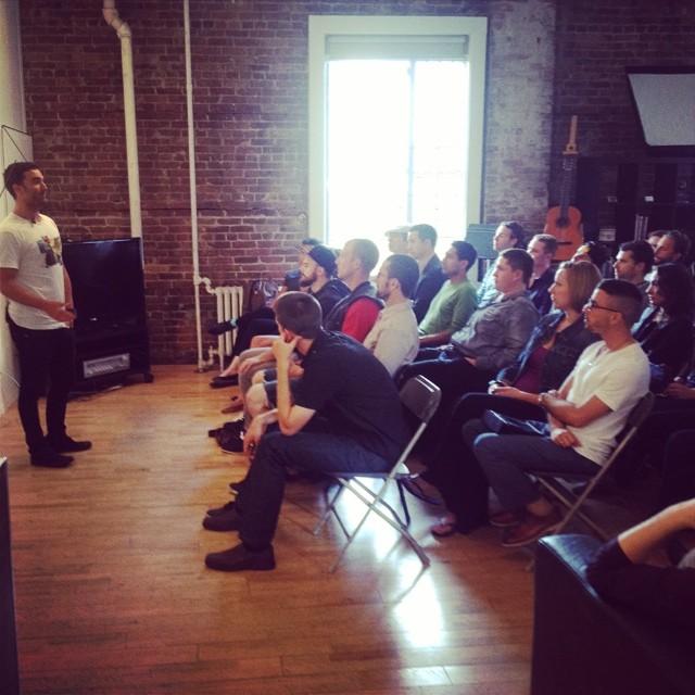 Sean Galla speaking at Man Talks