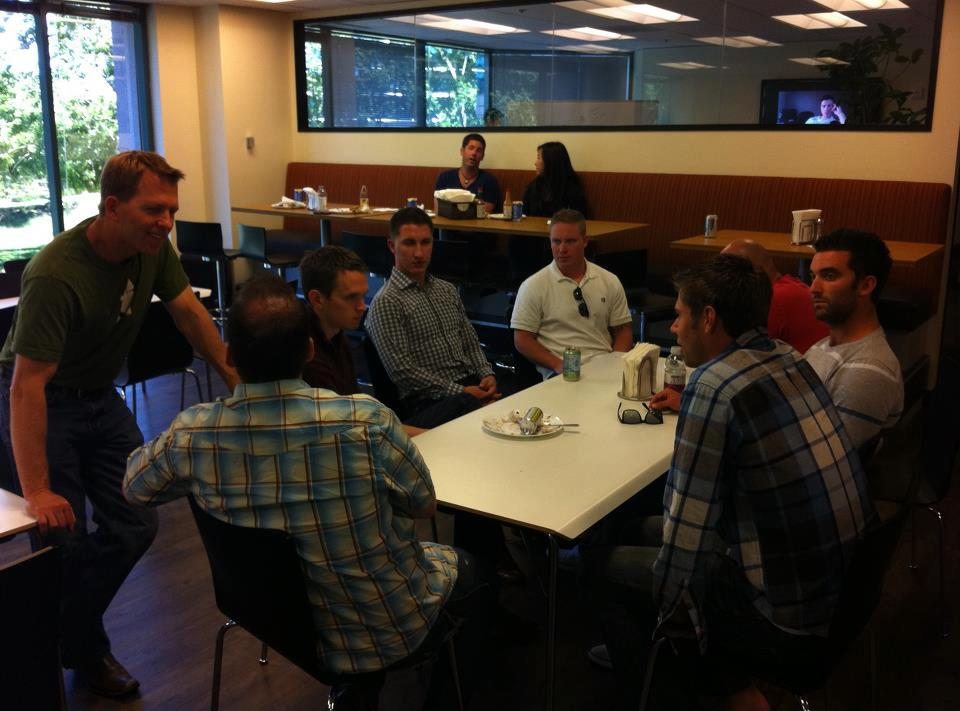 Men's group business trip