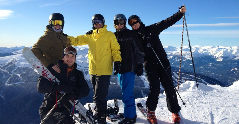Skiing with my men's group