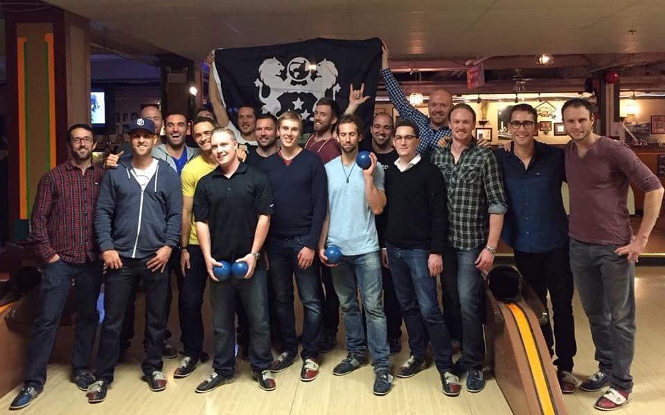 Men's group bowling