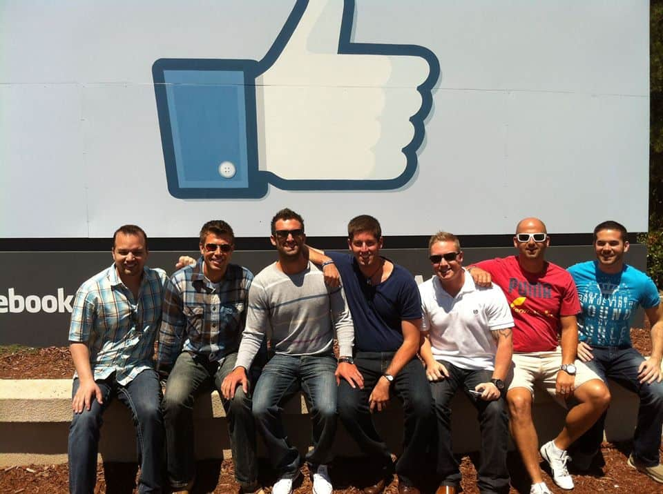 Our men's group visiting Facebook's headquarters